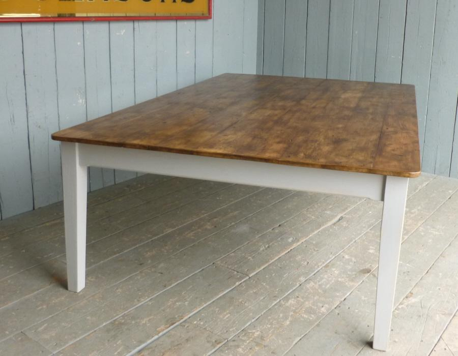 Victorian Reclaimed Table with Nine Floorboards Wide