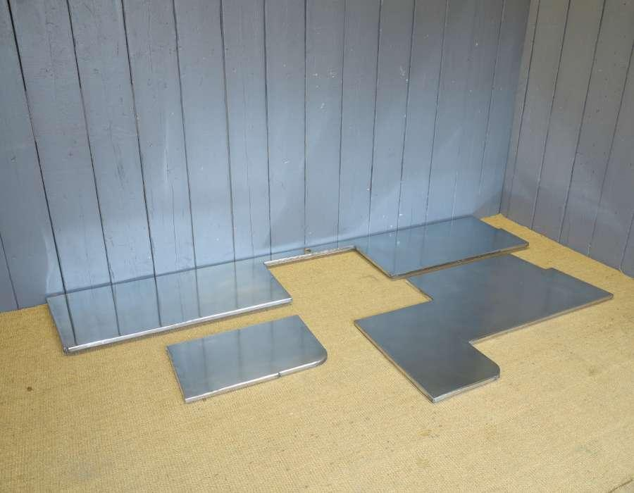 Natural Zinc worktop with cutouts