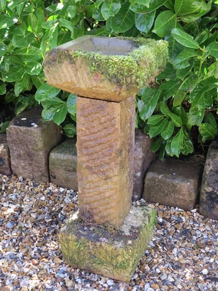Free standing cotswold stone carved garden bird bat