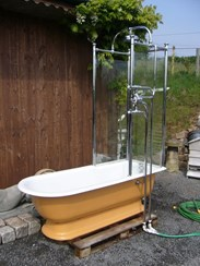 Image 1 - Totally Original Victorian Canopy Shower Bath
