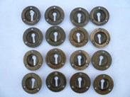 Image 2 - Set of 16 Brass Victorian Escutcheons