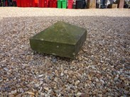 "Image 1 - Salvaged Antique Stone Pier Capping 17"" x 17"" x 10"""