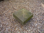 "Image 2 - Salvaged Antique Stone Pier Capping 17"" x 17"" x 10"""