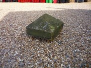 "Image 1 - Salvaged Antique Stone Pier Capping 18"" x 18"" x 11 3/4"""