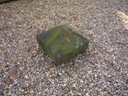 "Image 2 - Salvaged Antique Stone Pier Capping 18"" x 18"" x 11 3/4"""