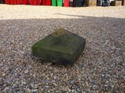 "Image 1 - Salvaged Antique Stone Pier Capping - 17 3/4"" x 17 3/4"" x 11 1/2"""