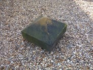 "Image 2 - Salvaged Antique Stone Pier Capping - 17 3/4"" x 17 3/4"" x 11 1/2"""