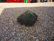 "Image 1 - Salvaged Antique Stone Pier Capping - 16 1/2"" X 16 1/2"" X 11 1/2"""