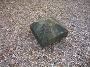 "Image 2 - Salvaged Antique Stone Pier Capping - 16 1/2"" X 16 1/2"" X 11 1/2"""