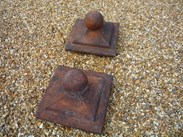 Image 3 - Pair of Antique Terracotta Gate Pier Cappings