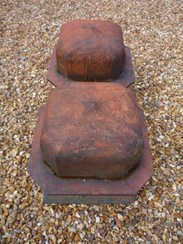 Image 2 - Large Pair of Antique Terracotta Gate Pier Cappings