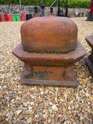 Image 3 - Large Pair of Antique Terracotta Gate Pier Cappings