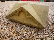 Image 1 - Large Pair of Antique Gothic Stone Gate Pier Cappings