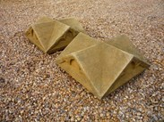 Image 3 - Large Pair of Antique Gothic Stone Gate Pier Cappings
