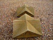 Image 4 - Large Pair of Antique Gothic Stone Gate Pier Cappings
