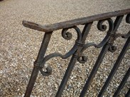 Image 6 - Antique reclaimed wrought iron staircase railings