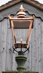 Shown with our Xtra Large Copper Lanterns that we sell seperately