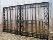 Image 1 - Salvaged Antique Cast and Wrought Iron Driveway Gates