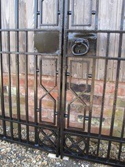 Image 2 - Salvaged Antique Cast and Wrought Iron Driveway Gates