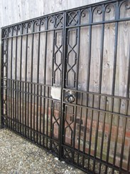 Image 4 - Salvaged Antique Cast and Wrought Iron Driveway Gates