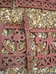 Image 3 - Large run of Cast Iron Reclaimed Antique Gothic Railings