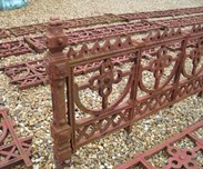 Image 4 - Large run of Cast Iron Reclaimed Antique Gothic Railings