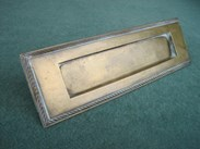 Image 1 - Antique Salvaged Solid Brass Letter Plate Without Clapper
