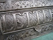 Image 2 - Antique Salvaged Solid Iron Letter Plate Without Clapper
