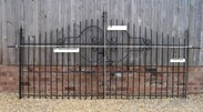 Image 1 - A Pair of Reclaimed Antique Wrought Iron Gates with hinges