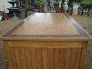 Showing the top of the Substantial Butchers Block - Country Kitchen Central Island
