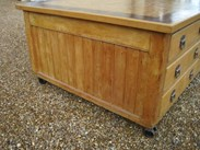 Showing the side of the Substantial Butchers Block - Country Kitchen Central Island