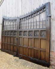 Image 1 - Pair of Oak and Iron Gates from Ashton Hall Lancaster