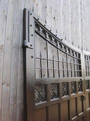 Image 2 - Pair of Oak and Iron Gates from Ashton Hall Lancaster