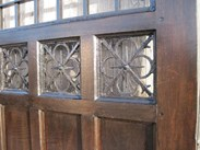 A close up of the iron panels