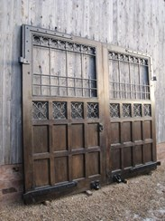 Image 6 - A Pair of Oak and Iron Gates from Ashton Hall Lancaster