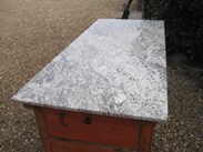 Image 1 - Antique Kitchen Centre Island with Granite Top