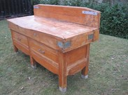 Image 2 - French Antique Butchers Block on Original Base
