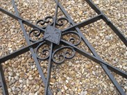 Image 5 - Antique Salvaged Estate Gate and Cast Iron Posts