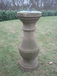 Image 3 - Antique Stone Sundial with Brass Top