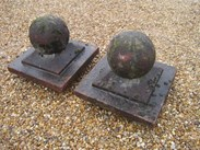 Image 3 - A pair of Weathered Stone Gate Pier Finials