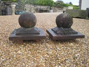 Image 5 - A pair of Weathered Stone Gate Pier Finials
