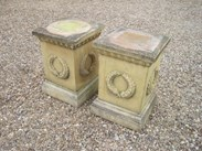 Image 1 - Pair of Stone Garden Plinths