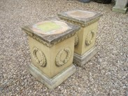 Image 2 - Pair of Stone Garden Plinths