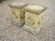 Image 3 - Pair of Stone Garden Plinths