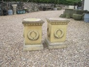 Image 4 - Pair of Stone Garden Plinths