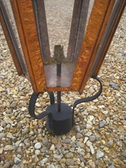 Image 1 - Large Copper Hexagonal Antique Garden Outdoor Lantern
