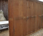 picture of the rear of the panelling
