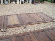 Image 6 - Large Quantity of Tall Antique Oak Wall Panelling