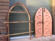Image 1 - A Pair of Pitch Pine Gothic Arched Doors With Frame