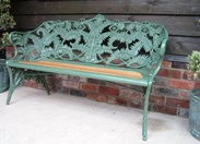 Image 1 - Coalbrookdale Fern and Blackberry Pattern Garden Bench